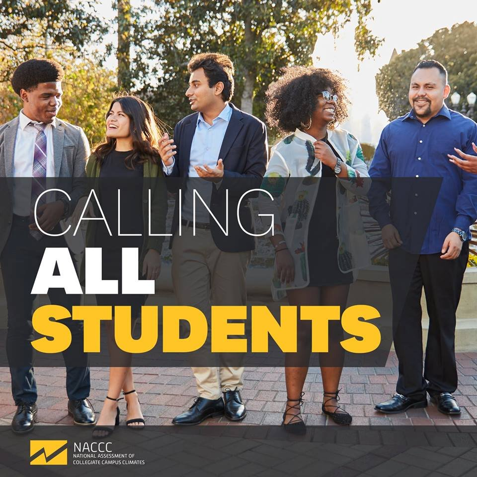 "An image of students with the words ""Calling All Students"""