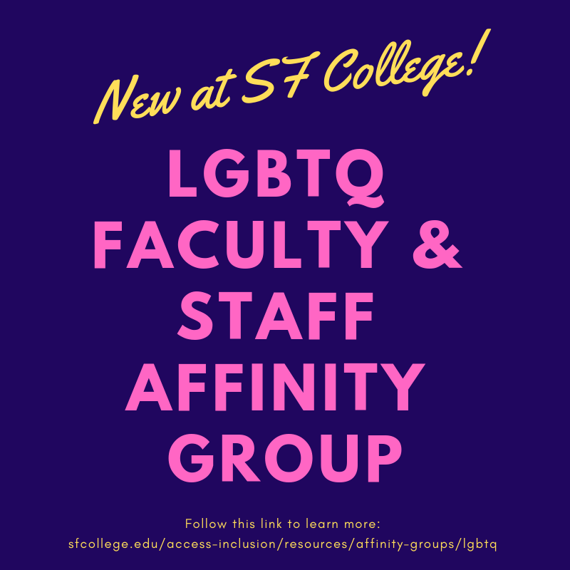 New at SF LGBTQ Affinity Group