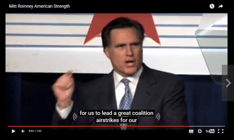 Mitt Romney speech incorrectly captioned