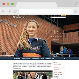 SF to UF Microsite