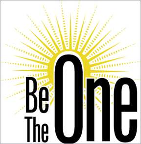 be the one logo