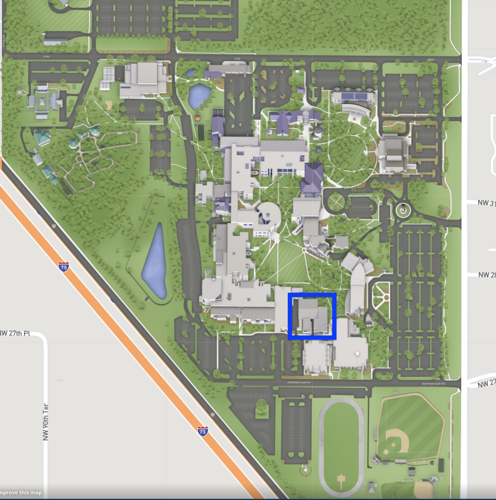 Campus Map Ufl.Uf At Sf Center
