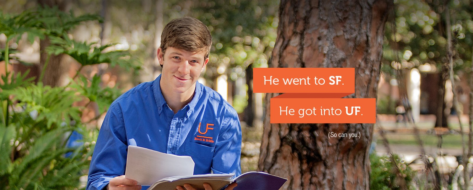 Christian went to SF. He got into UF.
