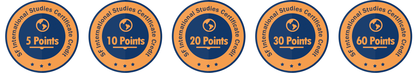 International Studies Certificate Badges