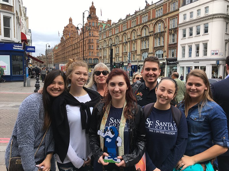 Students on a Study Abroad Trip