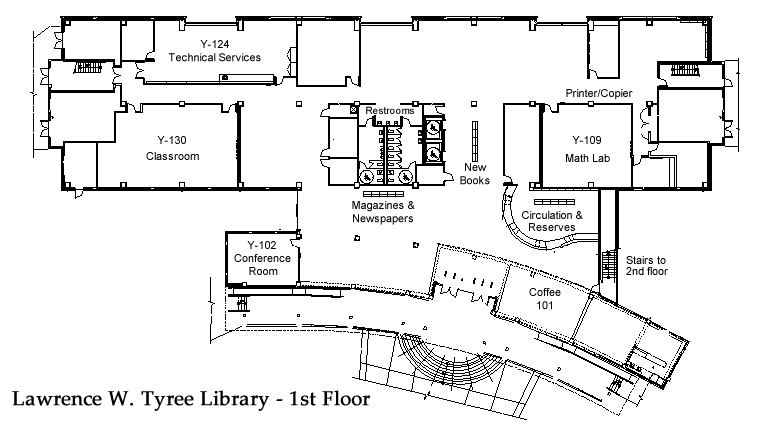 Library Floor Plan - 1st Floor