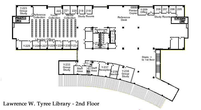 Library Floor Plan - 2nd Floor