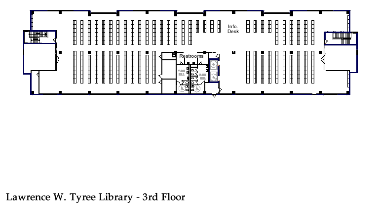 Library Floor Plan - 3rd Floor