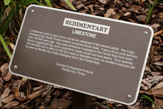 Limestone Rock Sign