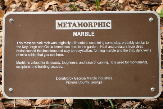 Marble Rock Sign