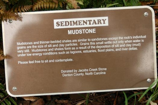Mudstone Rock Sign