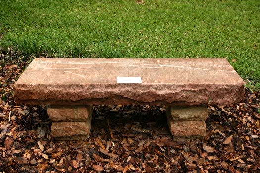 Sandstone Bench Close Up