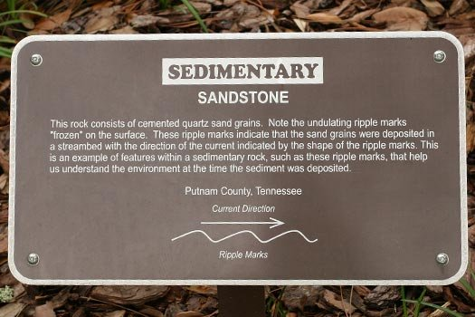 Sandstone Rock Sign