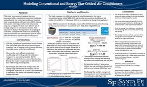 Modeling Conventional and Energy Star Central Air Conditioners