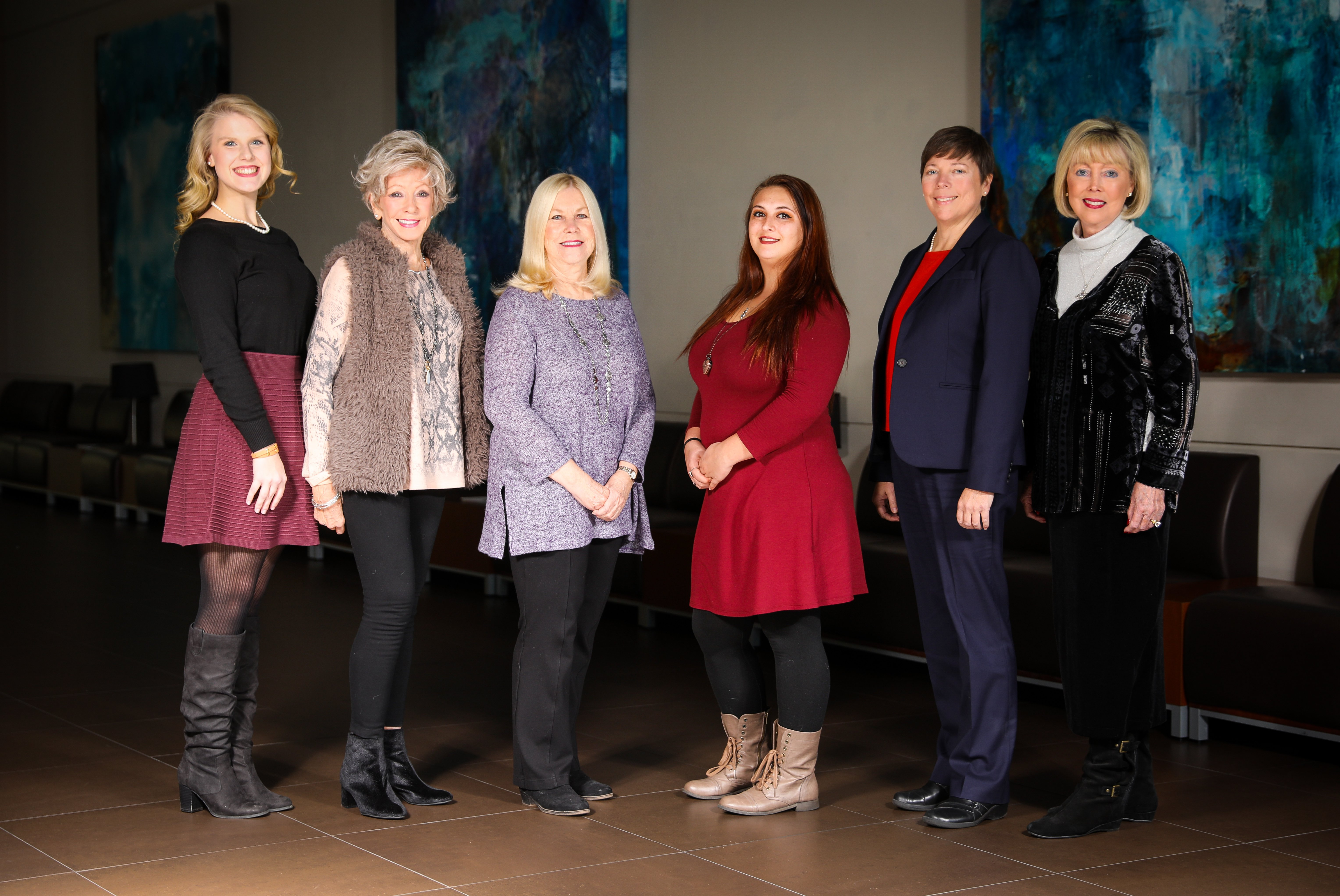 "The 2018 honorees are (from left) Grace Johns (Woman of Promise), Patricia ""Patsy"" Blount (Woman of Distinction), Carol ""Brandi"" Noegle (Women of Distinction), Victoria Maggard (Woman of Promise), Sta"